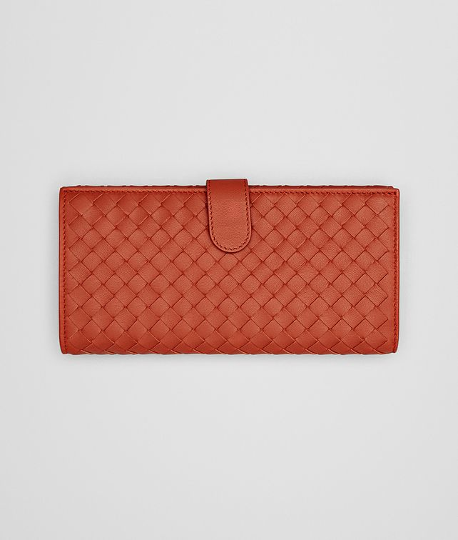 BOTTEGA VENETA CONTINENTAL WALLET IN GERANIUM INTRECCIATO NAPPA Continental Wallet D fp