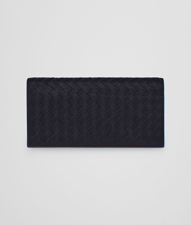 BOTTEGA VENETA CONTINENTAL WALLET IN NEW DARK NAVY PEACOCK INTRECCIATO CALF Continental Wallet Man fp