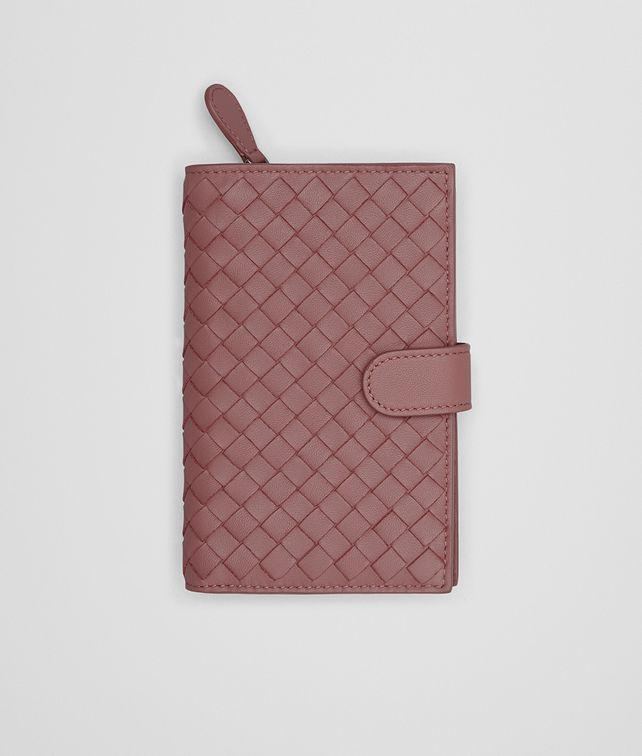 BOTTEGA VENETA CONTINENTAL WALLET IN DUSTY ROSE INTRECCIATO NAPPA Continental Wallet Woman fp