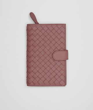 CONTINENTAL WALLET IN DUSTY ROSE INTRECCIATO NAPPA