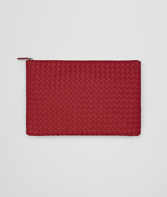 BOTTEGA VENETA DOCUMENT CASE IN CHINA RED INTRECCIATO NAPPA Other Leather Accessory E fp