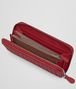 BOTTEGA VENETA ZIP AROUND WALLET IN CHINA RED INTRECCIATO NAPPA Zip Around Wallet D ap