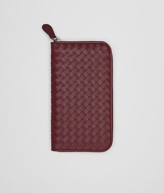 ZIP AROUND WALLET IN BAROLO INTRECCIATO VN