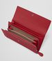 BOTTEGA VENETA CONTINENTAL WALLET IN CHINA RED INTRECCIATO NAPPA Continental Wallet D ap