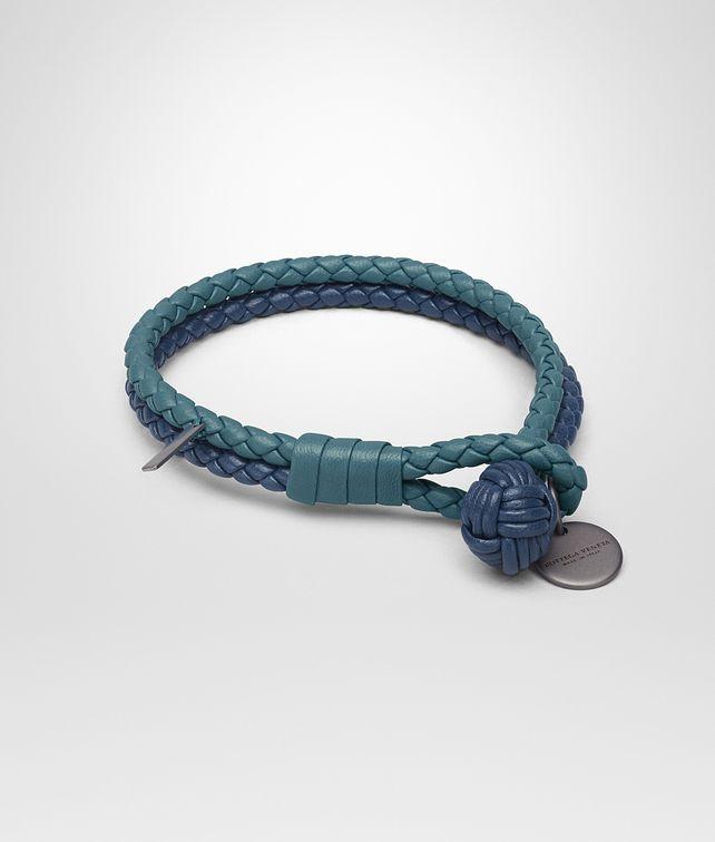 BOTTEGA VENETA BRACELET IN BRIGHTON PACIFIC INTRECCIATO NAPPA Keyring or Bracelets E fp