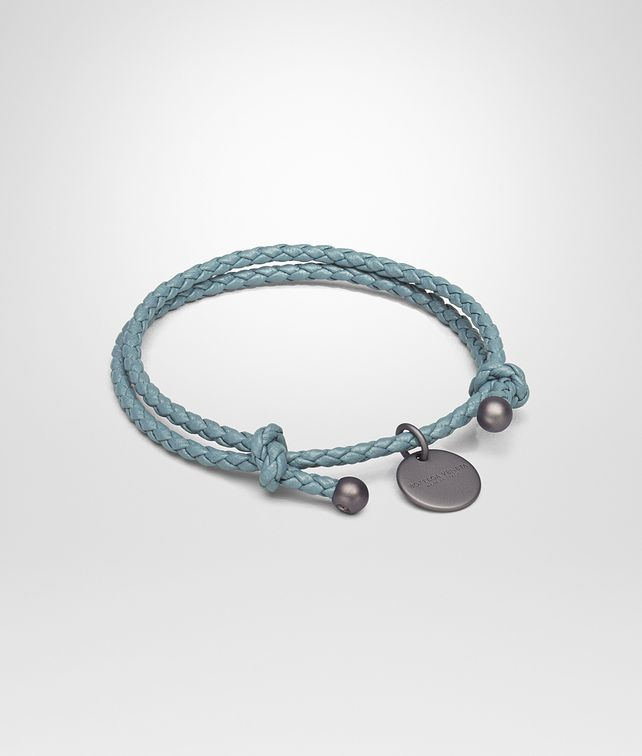 BOTTEGA VENETA BRACELET IN AIR FORCE BLUE INTRECCIATO NAPPA Keyring or Bracelets E fp