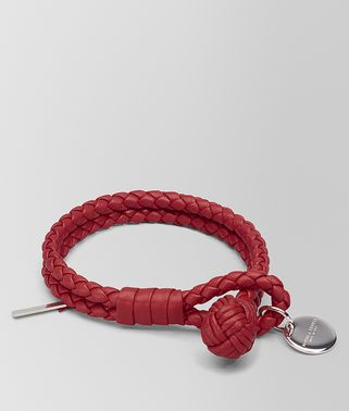 ARMBAND AUS INTRECCIATO NAPPA IN CHINA RED