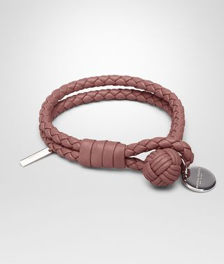 BRACELET IN DUSTY ROSE INTRECCIATO NAPPA