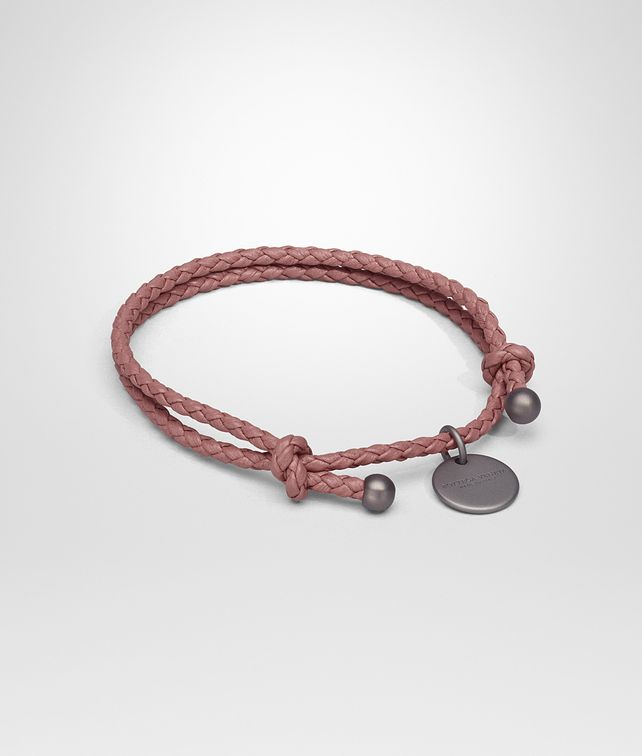BOTTEGA VENETA BRACELET IN DUSTY ROSE INTRECCIATO NAPPA Keyring or Bracelets E fp