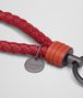 BOTTEGA VENETA KEY RING IN CHINA RED GERANIUM INTRECCIATO NAPPA Keyring or Bracelets E ap
