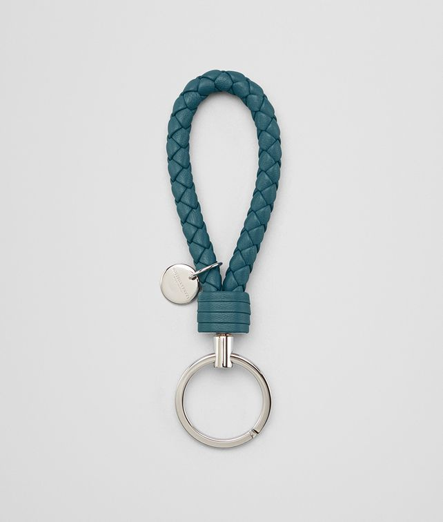 BOTTEGA VENETA KEY RING IN BRIGHTON INTRECCIATO NAPPA Keyring or Bracelets E fp