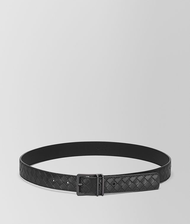 BOTTEGA VENETA BELT IN NERO INTRECCIATO CALF Belt [*** pickupInStoreShippingNotGuaranteed_info ***] fp