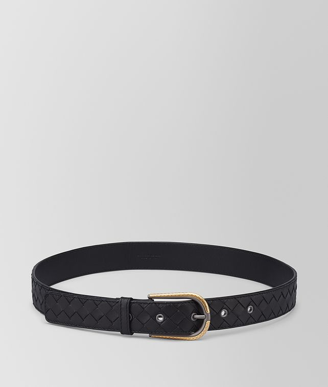 BOTTEGA VENETA NERO INTRECCIATO NAPPA BELT Belt [*** pickupInStoreShipping_info ***] fp