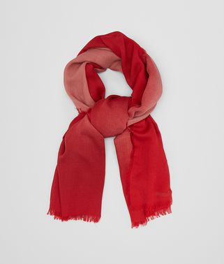 SCARF IN OLD ROSE RED WOOL