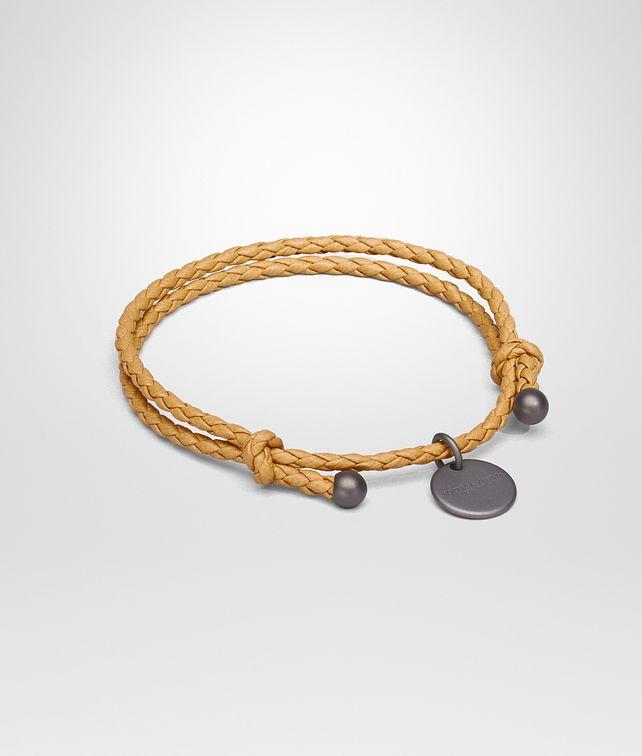 BOTTEGA VENETA BRACELET IN HELIOS INTRECCIATO NAPPA Keyring or Bracelets E fp