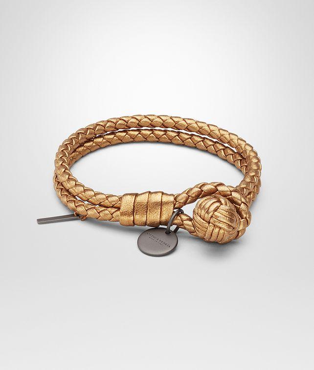 BOTTEGA VENETA BRACELET IN HELIOS INTRECCIATO GROS GRAIN Keyring or Bracelets E fp