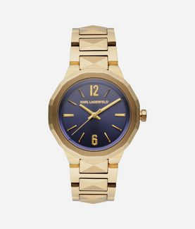 KARL LAGERFELD JOLEIGH NAVY GOLD