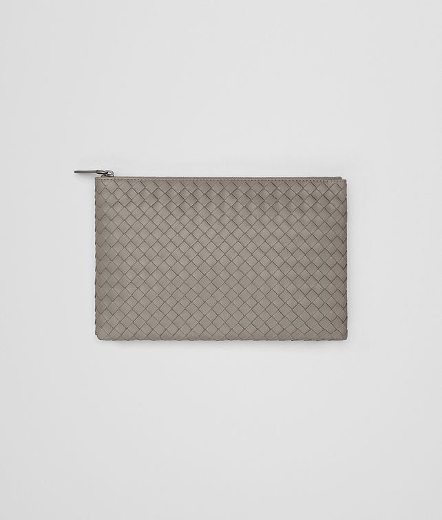 BOTTEGA VENETA DOCUMENT CASE IN FUME' INTRECCIATO NAPPA Other Leather Accessory E fp