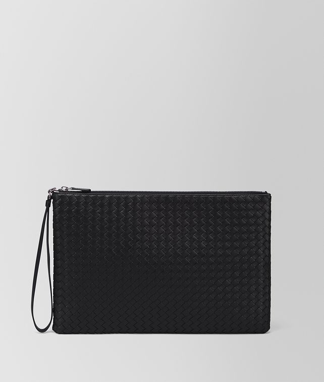 BOTTEGA VENETA PORTA DOCUMENTI MAXI IN INTRECCIATO NAPPA NERO Altro accessorio in pelle E fp