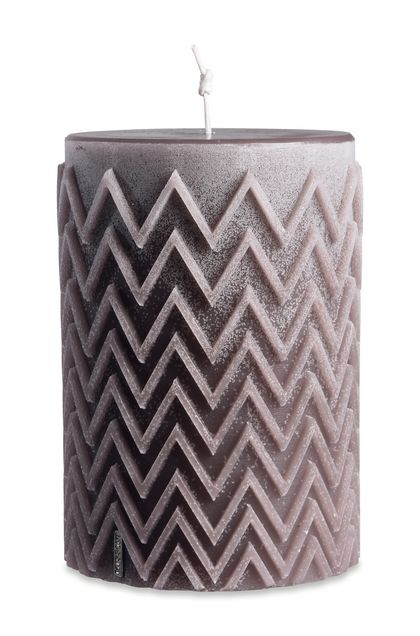 CHEVRON CYLINDRICAL CANDLE