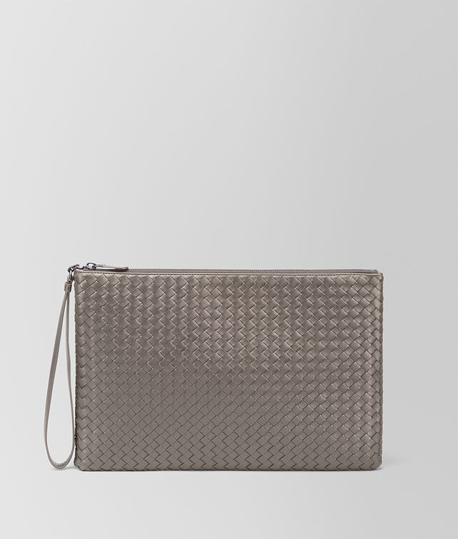 BOTTEGA VENETA PORTA DOCUMENTI MAXI IN INTRECCIATO NAPPA STEEL Altro accessorio in pelle E fp
