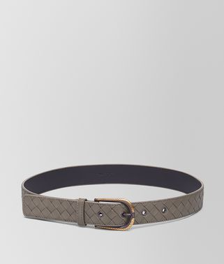 BELT IN STEEL ANTIQUE GOLD INTRECCIATO NAPPA