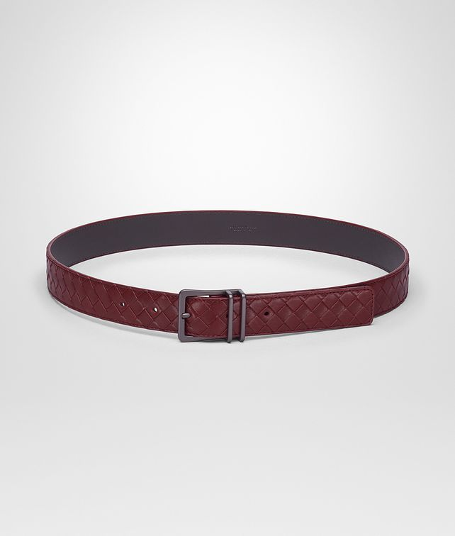 BOTTEGA VENETA BELT IN BAROLO INTRECCIATO CALF LEATHER Belt U fp