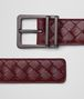 BOTTEGA VENETA BELT IN BAROLO INTRECCIATO CALF LEATHER Belt Man rp