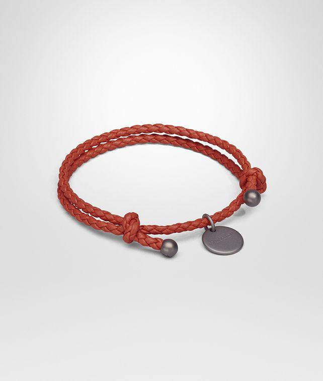 BOTTEGA VENETA BRACELET IN GERANIUM INTRECCIATO NAPPA Keyring or Bracelets E fp