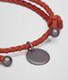 BOTTEGA VENETA BRACELET IN GERANIUM INTRECCIATO NAPPA Keyring or Bracelets E ap