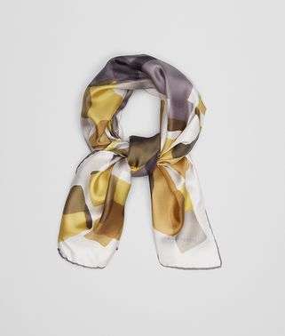 FOULARD IN CHARTREUSE GREY SILK