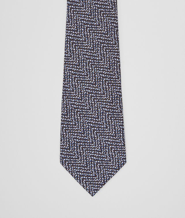 BOTTEGA VENETA TIE IN BLACK BLUE SILK Tie Man fp