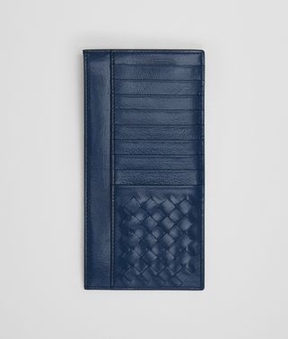 CARD CASE IN PACIFIC CALF LEATHER, INTRECCIATO DETAILS