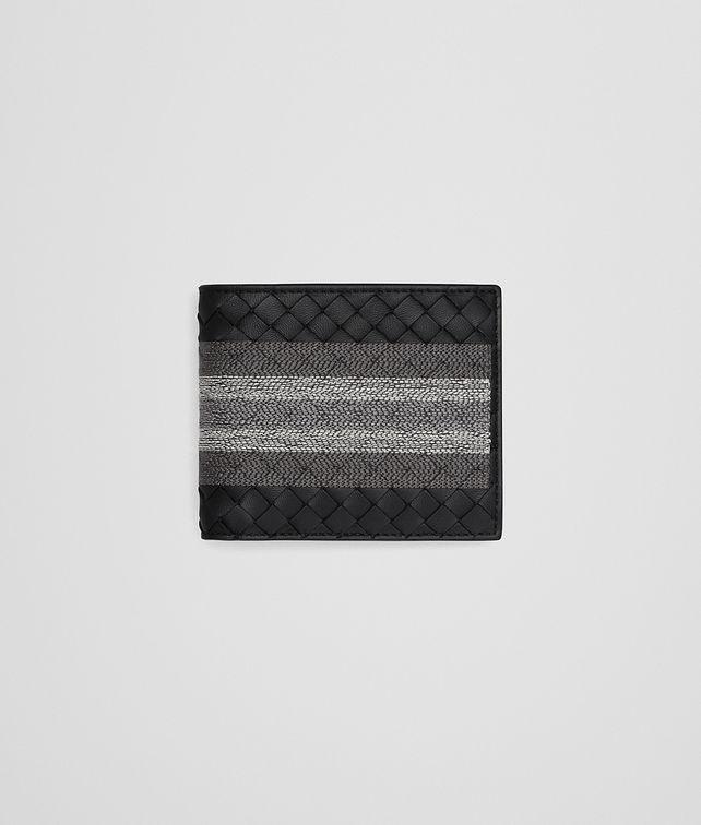 BOTTEGA VENETA BI-FOLD WALLET IN NERO INTRECCIATO NAPPA, EMBROIDERED DETAILS Bi-fold Wallet Man fp
