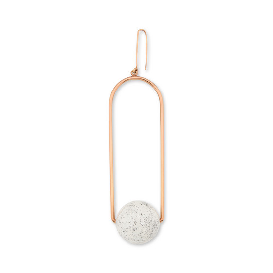 White suspended drop Earring