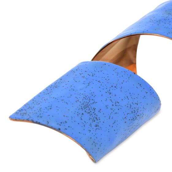 Blue Spiral Earring