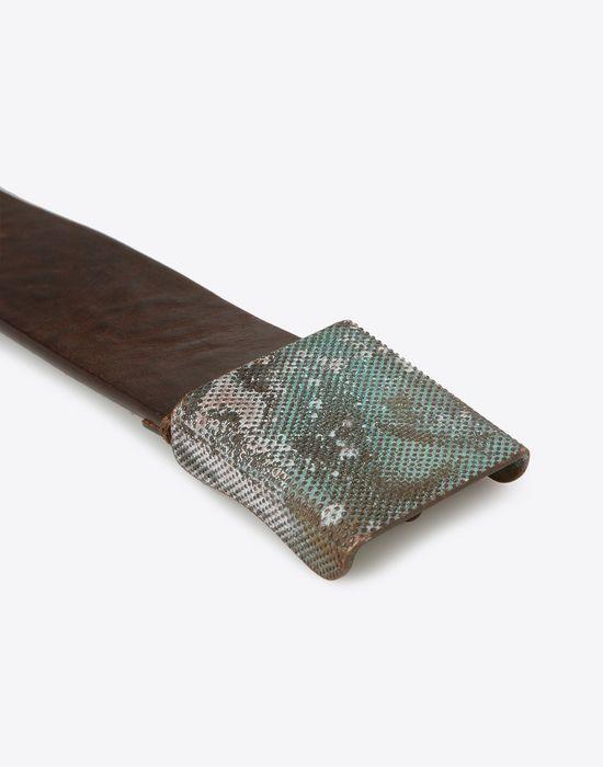 MAISON MARGIELA Belt with zinc buckle Belt U b