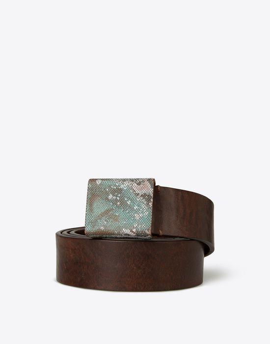 MAISON MARGIELA Belt with zinc buckle Belt U f