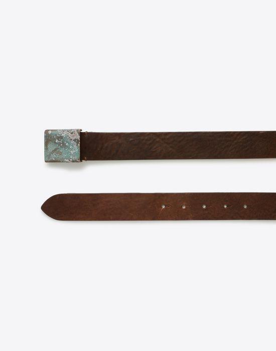MAISON MARGIELA Belt with zinc buckle Belt U r