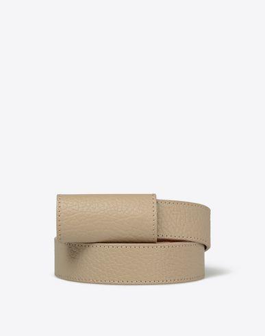 MAISON MARGIELA Belt U Thin printed calfskin leather belt f