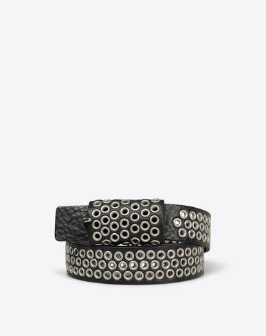 MAISON MARGIELA Belt U Eyelet calfskin leather belt f