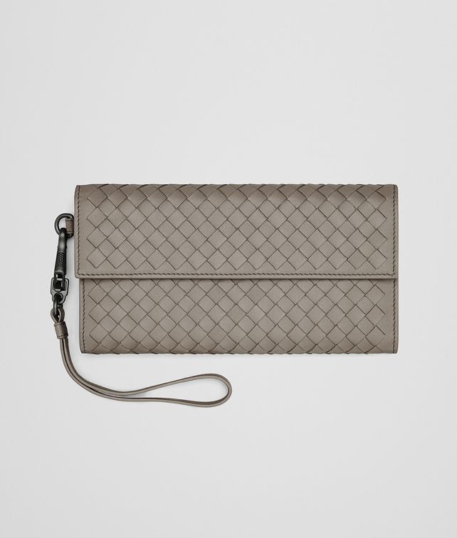 BOTTEGA VENETA CONTINENTAL WALLET IN STEEL INTRECCIATO NAPPA Continental Wallet D fp