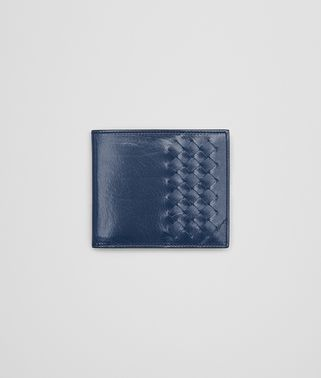 BI-FOLD WALLET IN PACIFIC CALF LEATHER, INTRECCIATO DETAILS