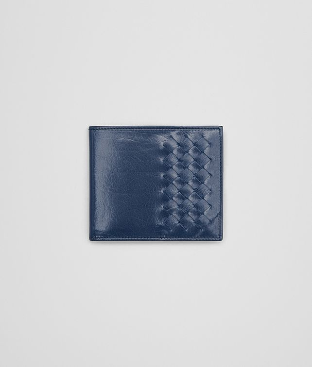 BOTTEGA VENETA BI-FOLD WALLET IN PACIFIC CALF LEATHER, INTRECCIATO DETAILS Bi-fold Wallet U fp