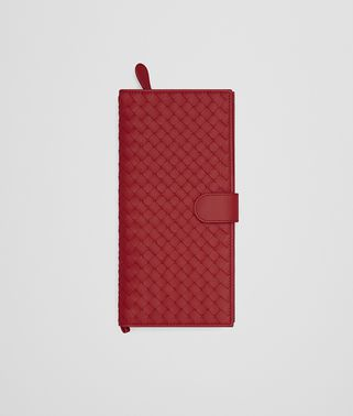 DOCUMENT CASE IN CHINA RED INTRECCIATO NAPPA