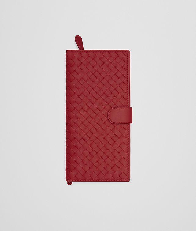 BOTTEGA VENETA PORTE-DOCUMENTS EN NAPPA INTRECCIATO CHINA RED Autre accessoire en cuir E fp