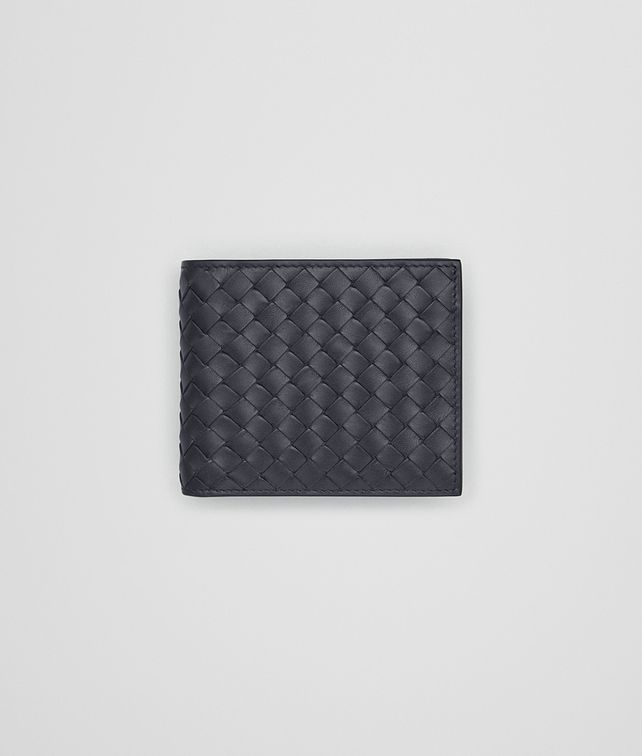 BOTTEGA VENETA BI-FOLD WALLET WITH ID WINDOW IN LIGHT TOURMALINE INTRECCIATO VN Bi-fold Wallet Man fp