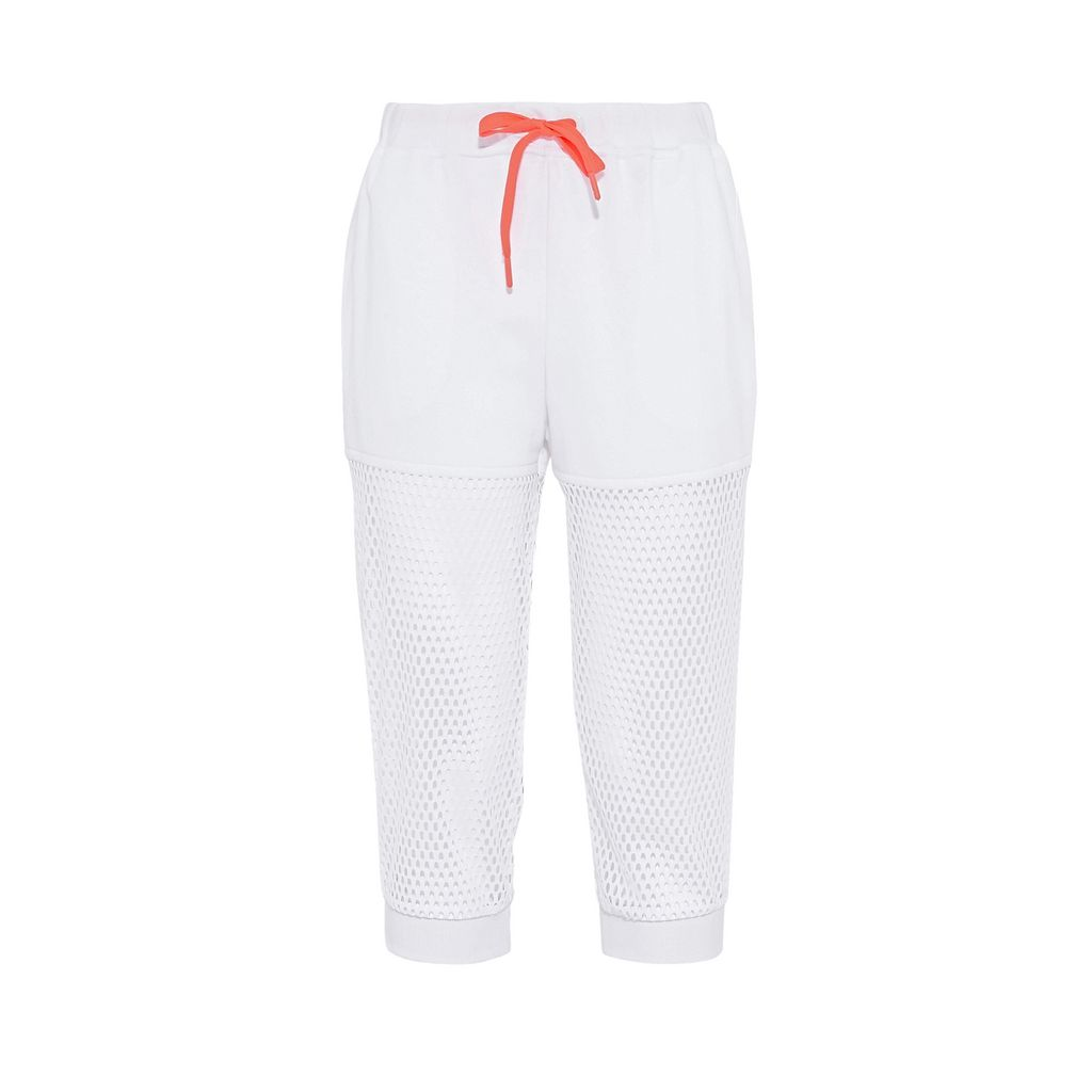 White Mesh Sweatpants - ADIDAS by STELLA McCARTNEY