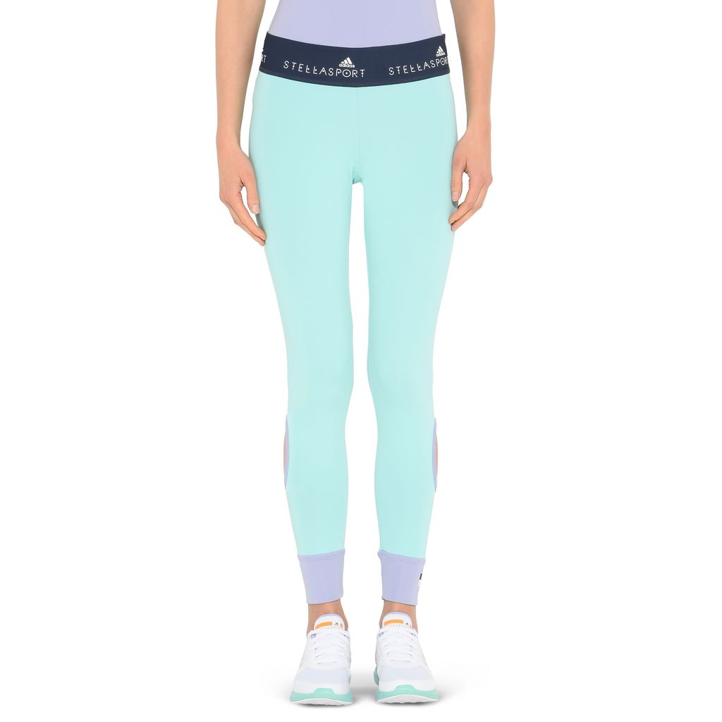Aqua Cut-out Leggings - ADIDAS by STELLA McCARTNEY