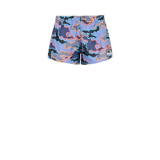 Indigo Camo woven shorts